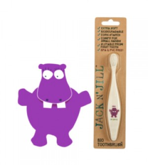 Jack N' Jill Bio Toothbrush (TM) Compostable & Biodegradable Handle HIPPO