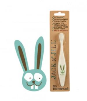 Jack N' Jill Bio Toothbrush (TM) Compostable & Biodegradable Handle BUNNY