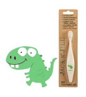 Jack N' Jill Bio Toothbrush (TM) Compostable & Biodegradable Handle DINO