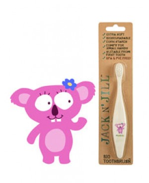 Jack N' Jill Bio Toothbrush (TM) Compostable & Biodegradable Handle KOALA