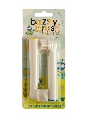 Jack N' Jill NEW Buzzy Brush Replacement Heads - 2 Pack (Not compatible with the Original Buzzy Brush)